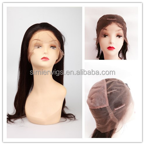 "2017 Hot Sale Factory Direct Wholesale 9A Brazilian Virgin Human Hair Full Lace Wig <strong>18</strong>"" Silky Straight #1"