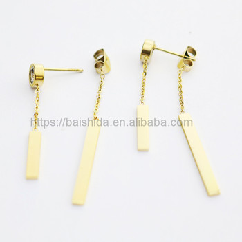 fake fashion drop dangling gold earrings women jewelry