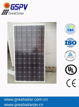 Mono crystalline silicon Solar Panel 300w, China Professional Manufacturer, high quality and Lower Price !