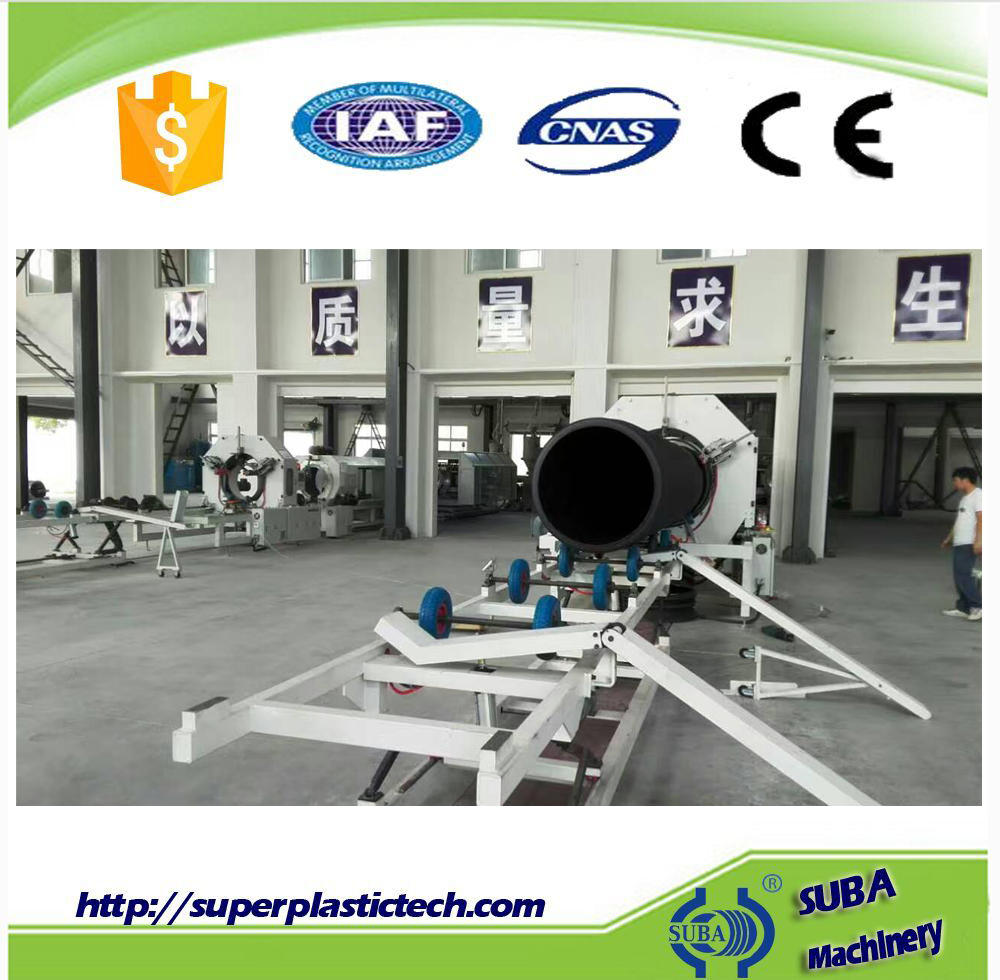 Energy saving water cooling plastic pipe extrusion machine