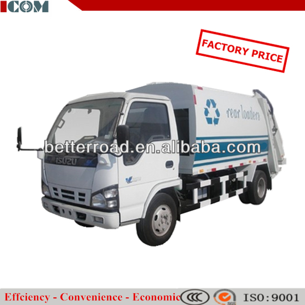 Sweep blade compression garbage truck