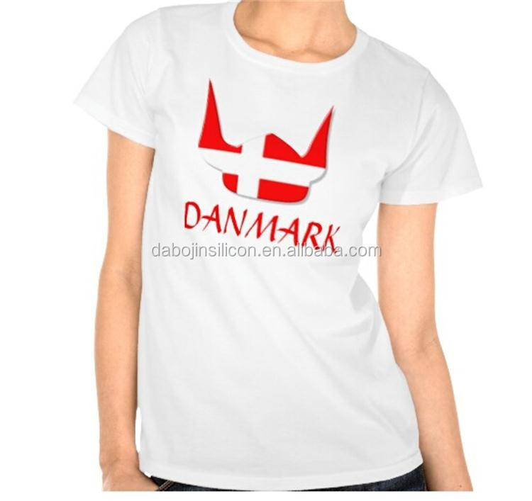 2016 wholesale fashion 100% cotton with Denmark flag T-shirt