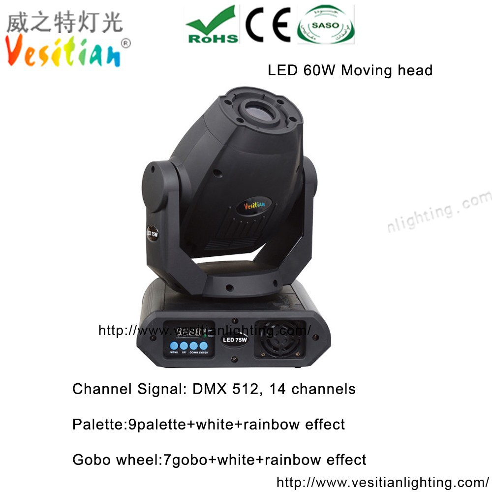 chinese auction website rotating spot lighting multiple gobos spot light 60w led mini moving head