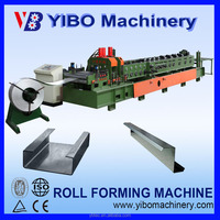 Hydraulic metal c channel punching and roll forming roffing machine