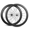 Dimple/ golf Surface carbon wheels front 50mm rear 60mm 20/24 holes with powerway r13 hub Clincher carbon road bike wheels