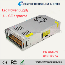 Multi output available 12v 5a open frame switching power supply
