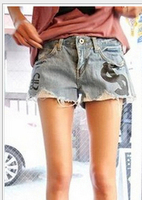 Z60368W 2014 hot woman's ripped jeans short