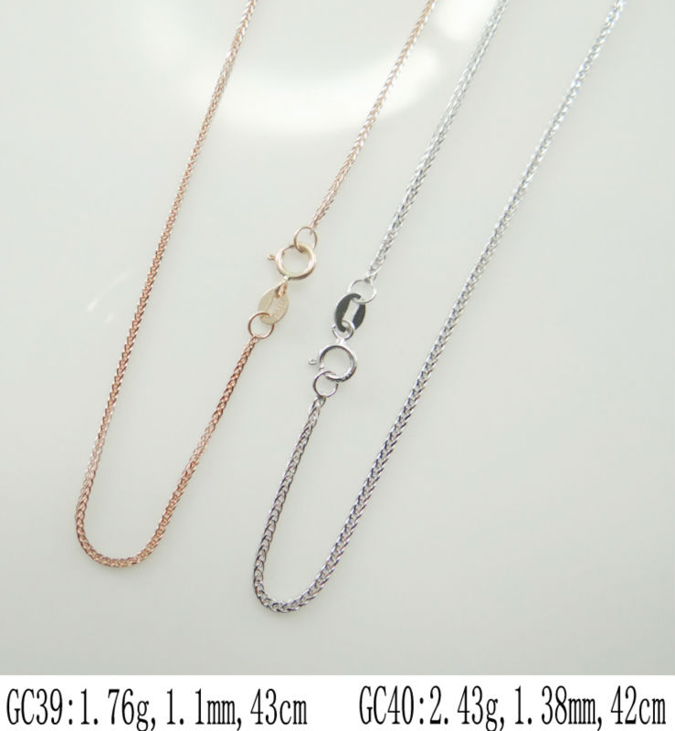 2014 professional factory Wholesale gold plated models of gold chains,18k gold plated chain -GC39,GC40