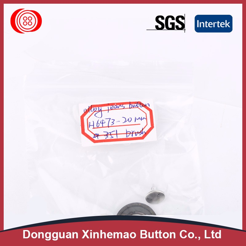 Fast delivery round shape fabric covered button with shank technology