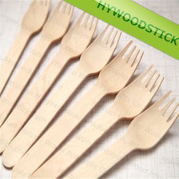 Disposable Tableware & Cutlery 1000 Forks Wooden 16.5 cm