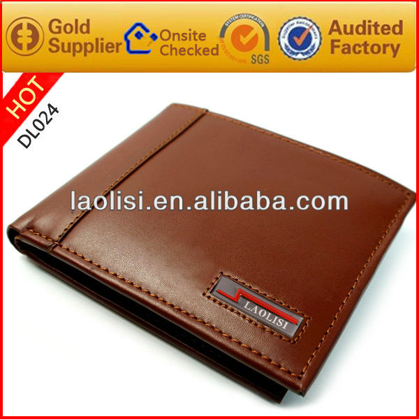 Men business style casual style genuine leather wallet