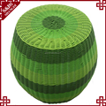 S&D Cheap price low weight ads round colorful plastic wicker stool