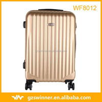 2015 new design abs pc trolley luggage /bag/cabin case abs luggage set gold color
