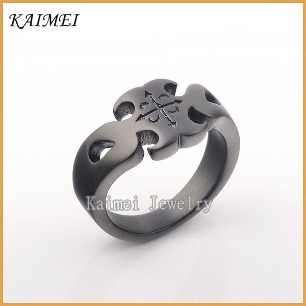Most Popular Fashion Jewelry Hot Sale Engraved Logo Black Championship Ring