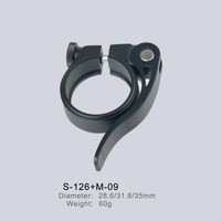 28.6/31.8/35/40mm Bike Quick Release Seat Clamp