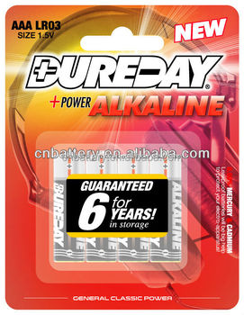 DUREDAY 1000mAh am4 lr03 alkaline 1.5v aaa battery