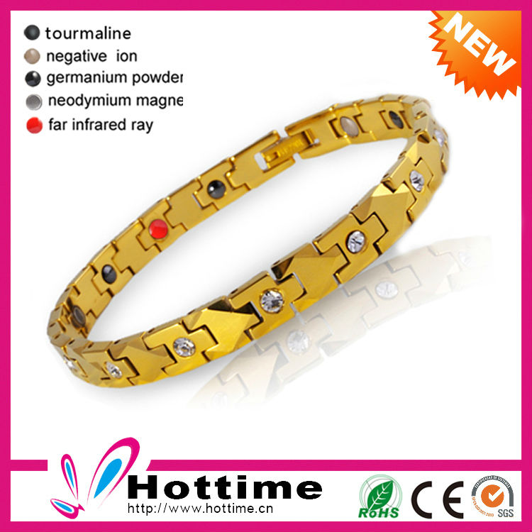 Luxury Energy Magnetic Tungsten Gold Bracelet