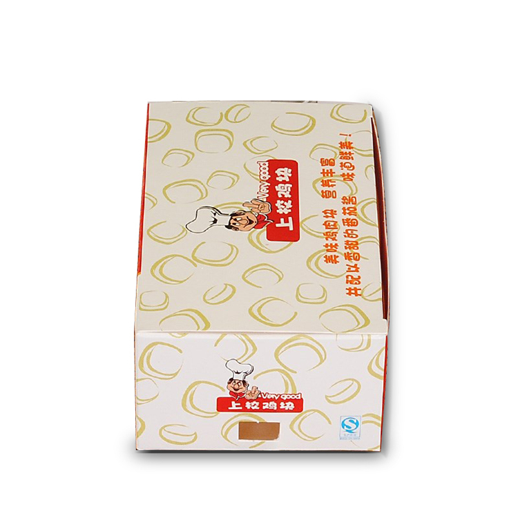 Printed paper fried chicken packaging boxes