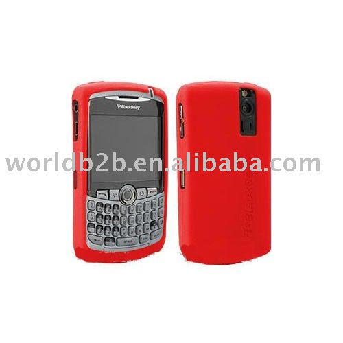 Silicon case for blackberry curve (Red)