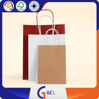 OEM Customize Print Logo High Quality Gift Bag PVC gift packaging kraft paper bags