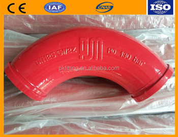 Pipe fitting concrete pump parts custom casting elbow