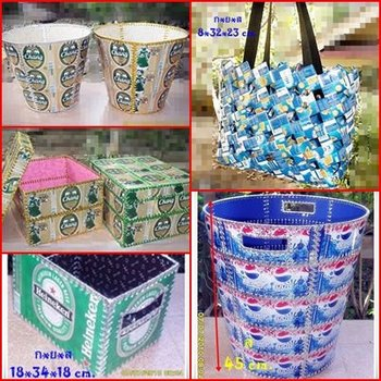 Crafts from waste materials