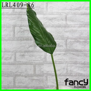Single long stem decoration artificial banana leaves