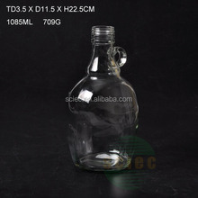 1L cheap glass wine bottle with handle