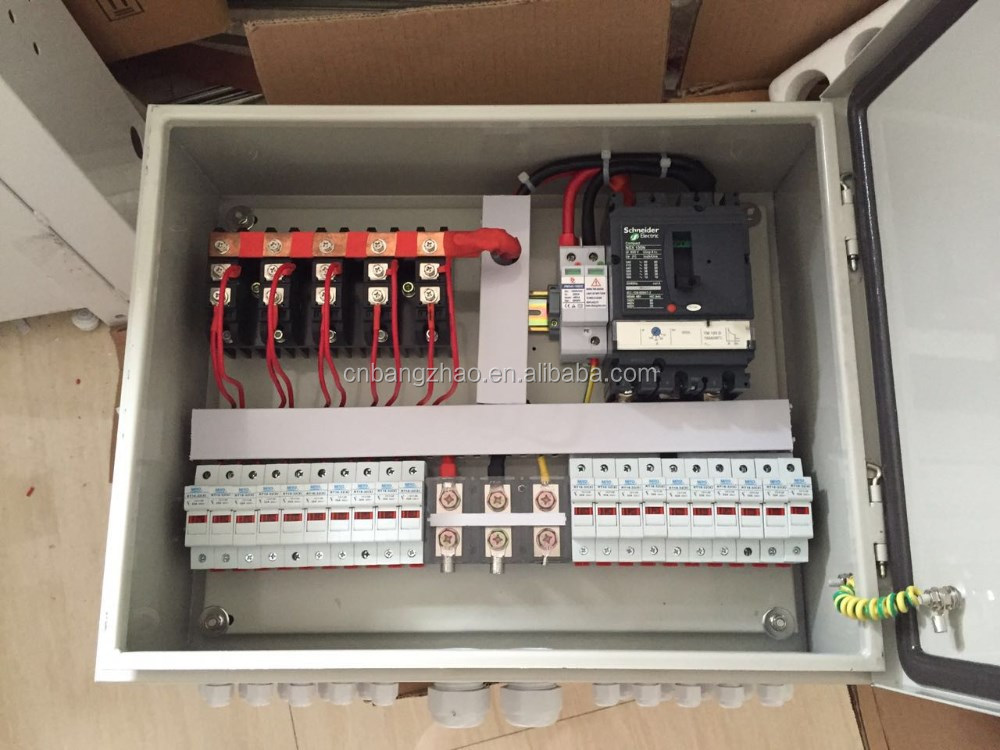 factory price 12 strings pv array combiner box for solar breaker fuse box replacement