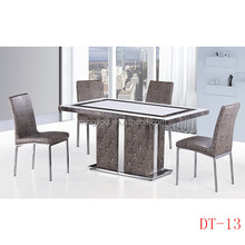 wholesale hot selling furniture stainless steel marble top luxury dining table