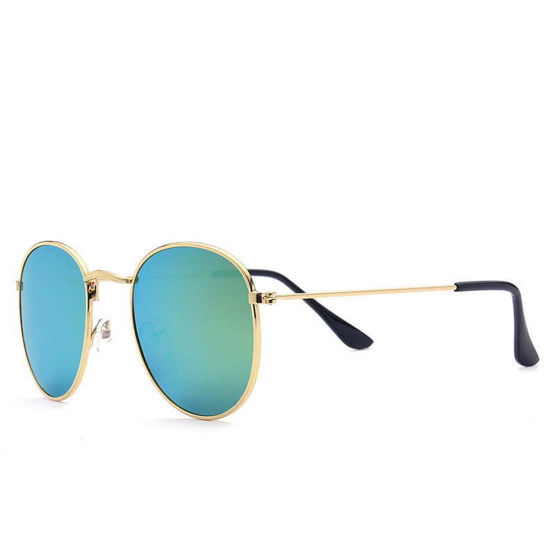 Newest Vintage Alloy Oval Neon Shades Sunglasses Unisex
