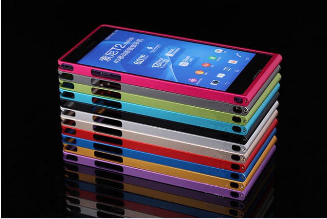 Luxury bumper metal aluminum hard case cover for sony xperia t2 ultra xm50