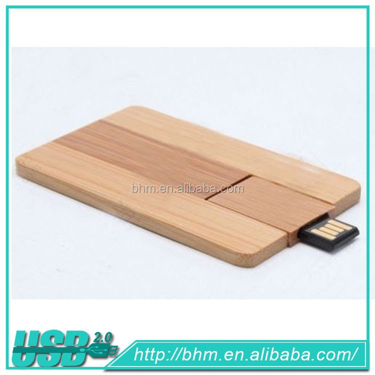 Common Red Wooden USB Flash Drive With Card Reader