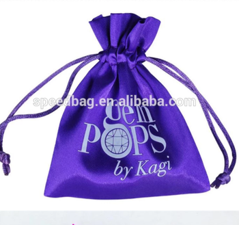 custom size jewelry drawstring bag satin string bag with satin ribbon