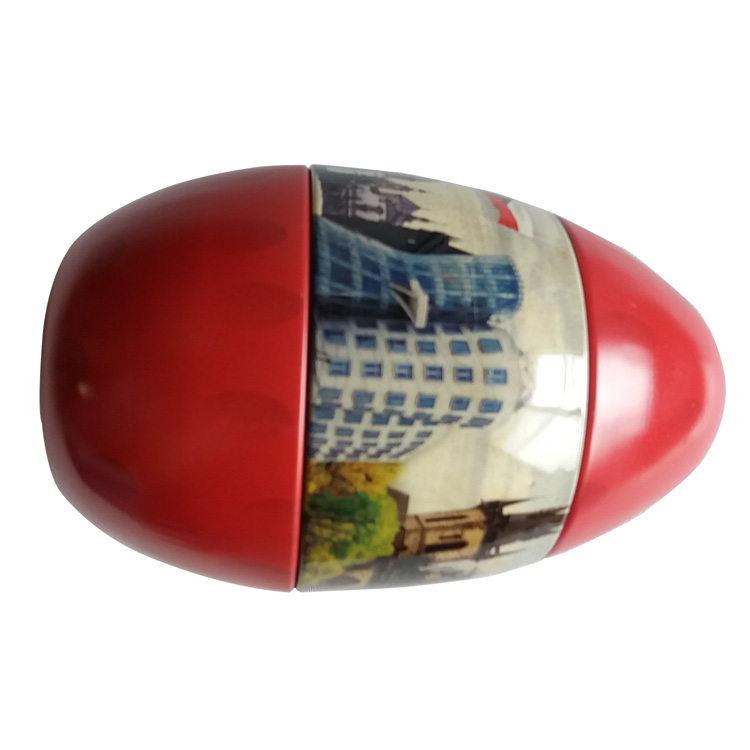 Decorative Empty Christmas Egg Tin Box For Chocolate