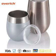 Everich 2017 New Design Double Wall Stainless Steel stainless Freeze Cooling Wine Glasses
