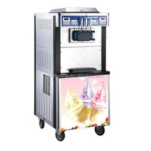 2 flavors + 1 mix flavor commercial frozen yogurt machinery (CE)