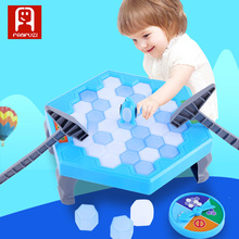 Hot Sale ABS Material Smooth Safe Two Person Interaction Game Beat Ice Save Penguin For Kids Toy