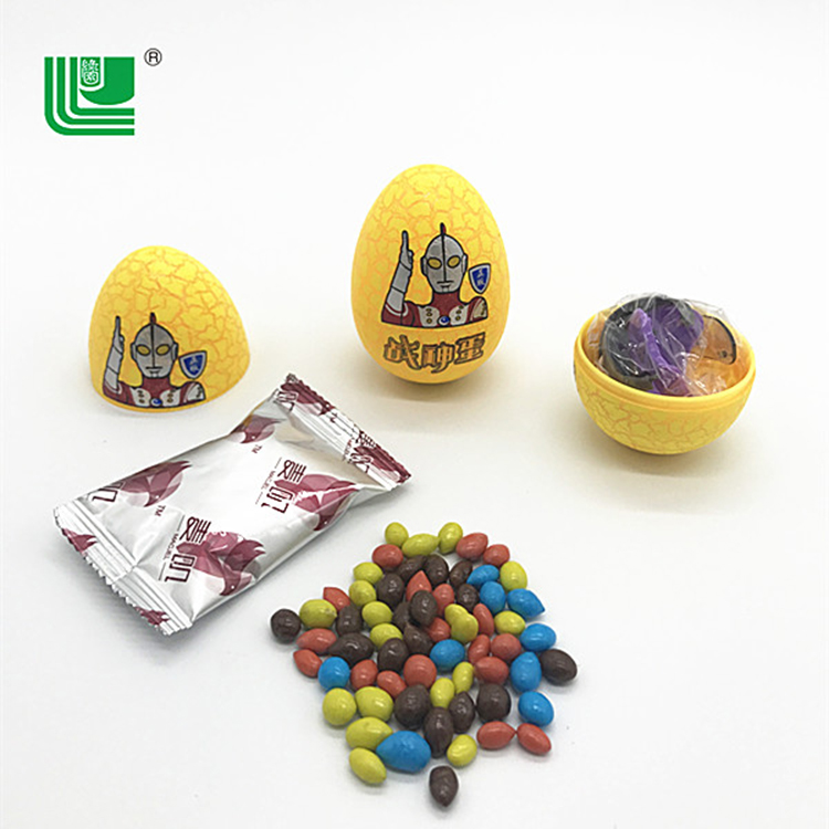Joy surprise chocolate egg cracking with toy candy