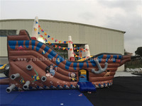 3d Inflatable Playground Pirate Ship For Sale