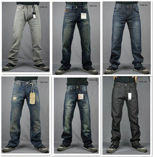 2013 man's jeans wholesale china fashion jeans high quality men's denim jean straight leg boot cut slim fit