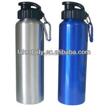 with carabine durable sip cap drinking sport bottle aluminium water bottles with 750ml