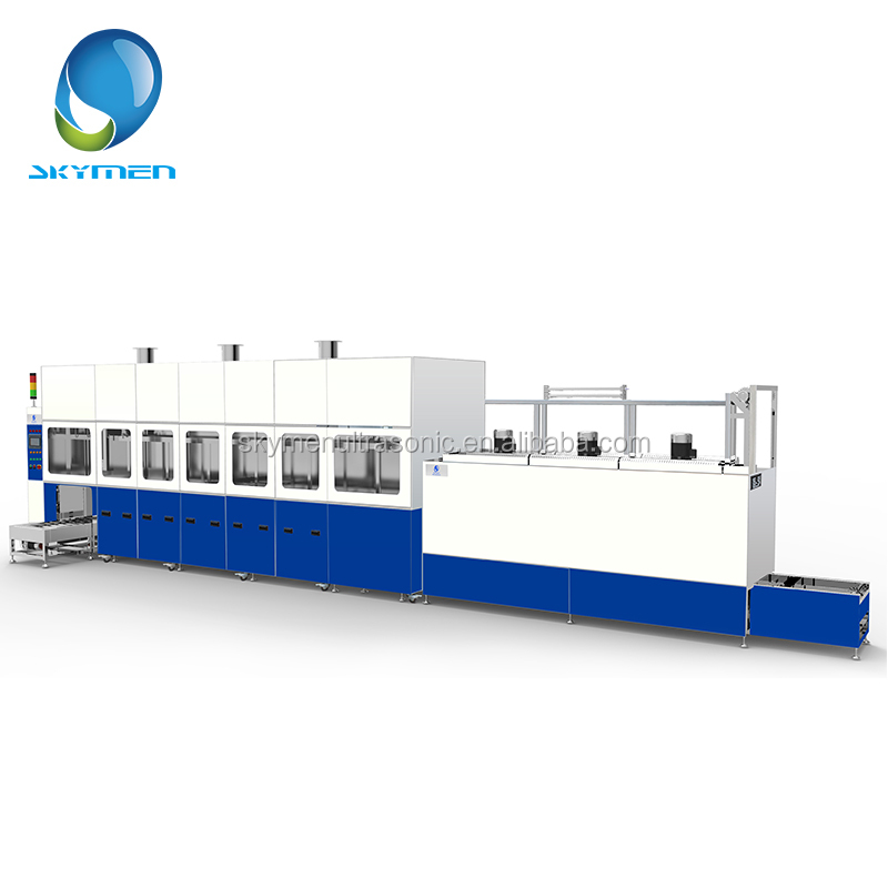 Large factory use ultrasonic cleaning machine for automotive air conditioning compressor parts