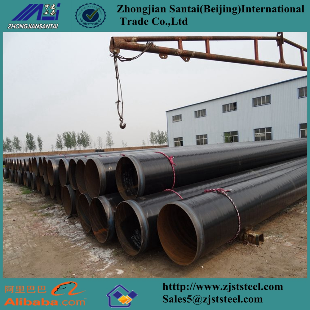 3PE coating API 5L X52 psl2 std Gas ERW Carbon Welded Steel Pipes