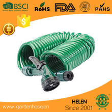 30m / 100ft Coil Hose with 7 Function Spray Head EVA Coiled Spiral Pipe Stretch Garden Hose Coil Hose Store - to store 50'