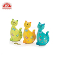 Smiling Spring Kitty plastic cat piggy bank