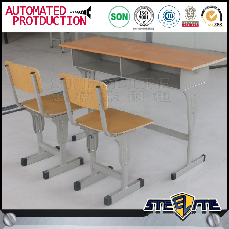 Used School Desk And Chair School Furniture Double Student