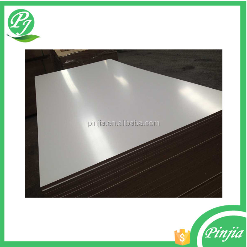 white high gloss mdf panel,polyester mdf,furniture cabinet mdf board