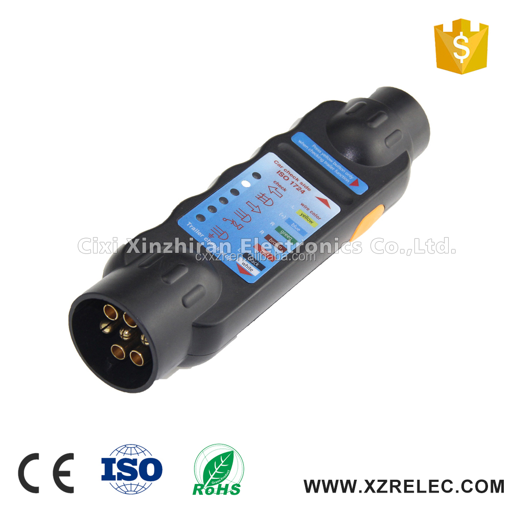 Truck Vehicle Light Electrics Diagnostic Tester Car 7Pin Trailer Socket Tester