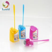 Eco Friendly Plastic Curved Two Heads Toilet Brush set toilet cleaning brush